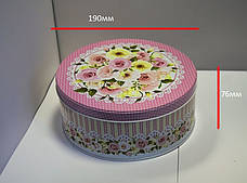 Жестяная коробка для конфет Роза мятная, 190*76мм, фото 3