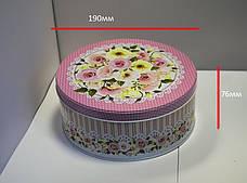 Жестяная банка для конфет Роза мятная, 99*68мм, фото 3