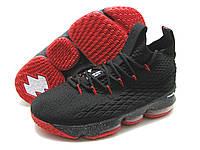 Баскетбольные кроссовки  Nike Lebron 15, черн-красный(реплика)