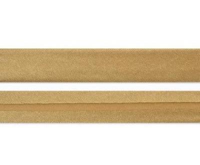 Лента для окантовки/бейка 1,5 см, светло - коричневая