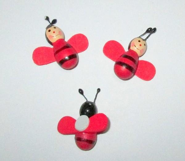 Пчелка искусственная 3,5 см, красная