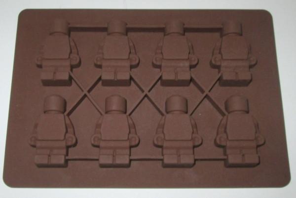 Силіконова форма 16*11см, Лего Чоловічки 8 шт