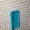 Чехол для 2D сублимации резиновый (TPU) на Iphone 4/4S голубой