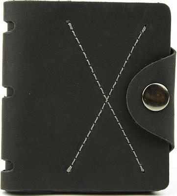 Вертикальное мужское портмоне на кнопке Black Brier П-5-35 черный