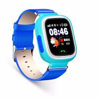 Детские смарт-часы Smart Baby watch Q90 с GPS трекером (синие)