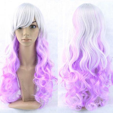 Длинные парики - 80см, розовые волнистые волосы, косплей, анимэ