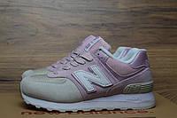 Кроссовки женские New Balance 574 код товара OD-2466 Материал замша,подошва пена. Розовые