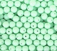 Бусины Мятные Акриловые 12 мм Упаковка 50 шт/уп