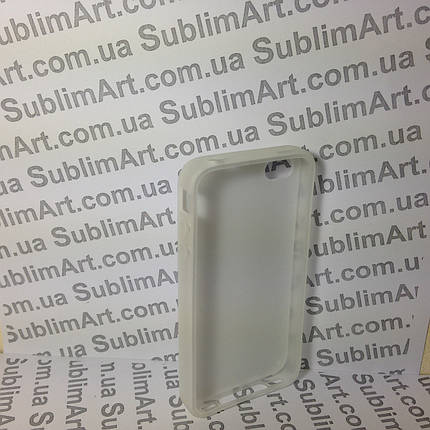 Чехол для 2D сублимации резиновый (TPU) на Iphone 4/4S прозрачный, фото 2
