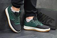 Кроссовки мужские Nike Lunar Force LF-1 код товара SD1-4596. Черно-зеленые