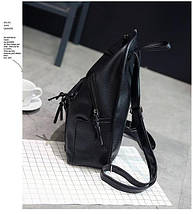 Чорний жіночий рюкзак міський, фото 3