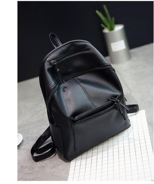 Чорний жіночий рюкзак міський