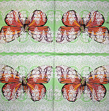 Салфетки для декупажа Бабочка и кружево 297