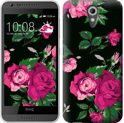 "Чехол на HTC Desire 620G Розы на черном фоне ""2239c-187-328"""