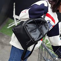 Черный женский городской рюкзак, фото 3