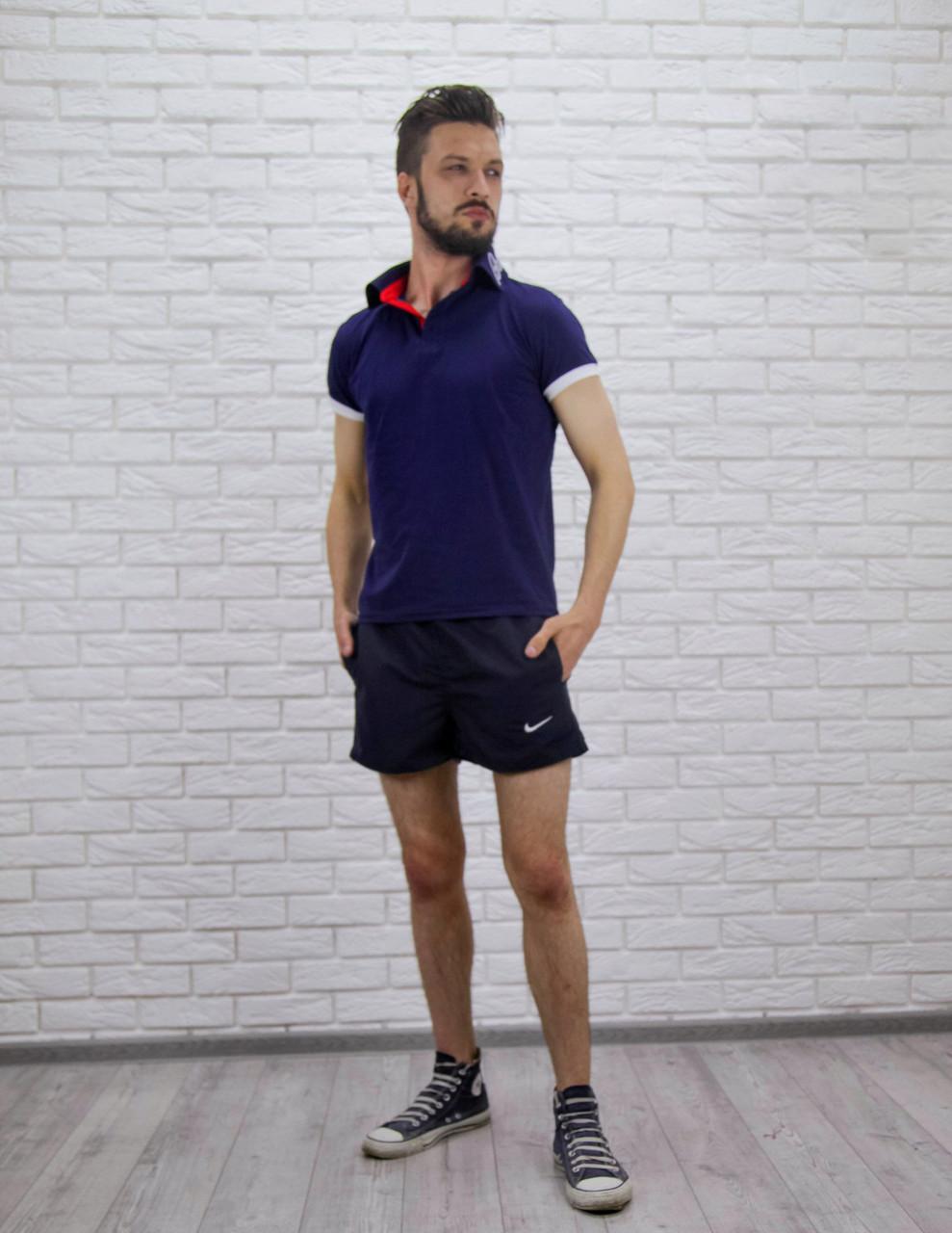 """Короткие мужские шорты на резинке """"NIКЕ"""" с карманами"""