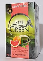 Чай зеленый  Feel Green с грейпфрутом Польша (40 пакет) 70г