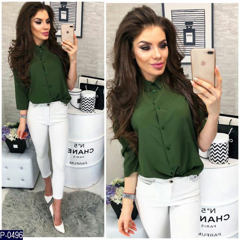 c423a597843 Женская рубашка блузка котон нарядная 42 44 46 размер - Lider - интернет  магазин модной одежды