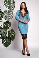Изумительное коктейльное платье с кружевом, фото 1