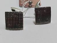 Серебряные мужские запонки Триумф
