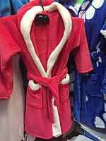 Махровый детский халатик с капюшоном