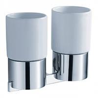 Стакан для зубных щеток двойной керамический Aura KEA-14416CH