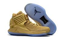 Баскетбольные кроссовки Nike Air Jordan XXXII Gold Реплика