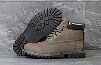 Мужские ботинки Timberland Зима. Кожа мех 100% Коричневые