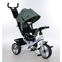 Трехколесный детский велосипед TURBO TRIKE M 3113-17 хаки с колесами EVA