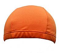 Тканевая шапочка для плавания оранжевого цвета