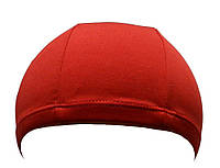 Тканевая шапочка для плавания красного цвета