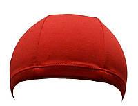 Тканинна шапочка для плавання червоного кольору, фото 1