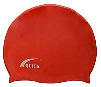 Шапочка для плавания, для взрослых, красного цвета, фото 1