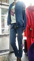 Куртка джинсовая свободного кроя под резинку