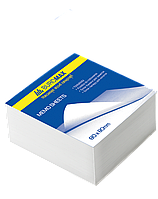 Блок белой бумаги JOBMAX 80х80х20мм не склеенный