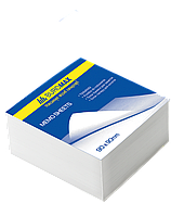Блок белой бумаги JOBMAX 90х90х70мм, не склеенный