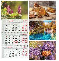 Календарь настенный квартальный на 2018 г. (3 пружины)