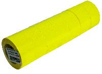 Ценники в бобине прямоугольные тип B, желтые, 500шт.,22х12мм