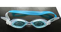 Детские очки для плавания бирюзового цвета (антифог, защита от UV-лучей), фото 1