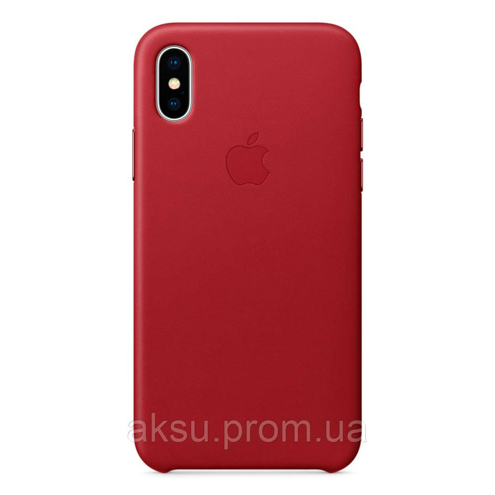Чехол Leather case for iPhone X Red