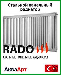 Стальной радиатор Rado 22k 500*400 бок.подкл.