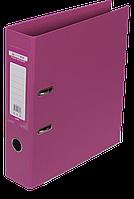 """Регистратор двухсторонний """"ELITE"""" BUROMAX, А4, ширина торца 70 мм, розовый"""