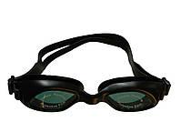 Дитячі окуляри для плавання чорного кольору (антифог, захист від UV-променів)