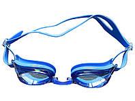 Окуляри для плавання сині (антифог, змінні перенісся, розмір універсальний), фото 1