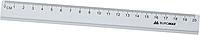 Линейка алюминиевая 20см, цвет: серебристый