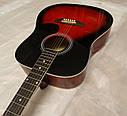 Гитара акустическая полноразмерная (4/4) AZALEA + Каподастр, Медиатор, Ключ. НОВАЯ!, фото 4