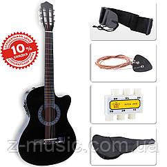 Электроакустическая гитара LAGRIMA (Чехол+Струны+Тюнер). СКИДКА -16%