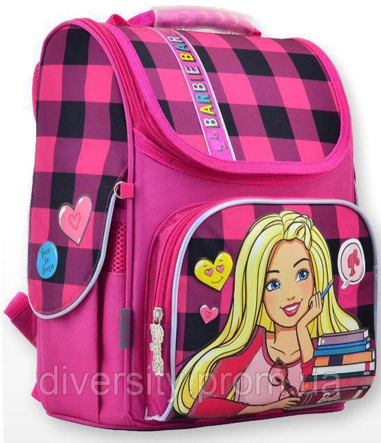 """Ранец каркасний  H-11 """"Barbie red"""" , серия """"Classic"""" 555156"""