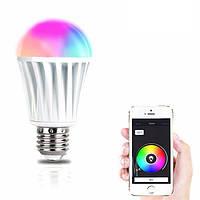 Волшебный Главная страница E27 7W RGBW Беспроводная синхронизация WiFi Smart LED Осветительная лампа для Смартфон Control AC220V