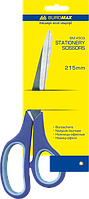 Ножницы с резиновыми вставками BUROMAX, 215 мм